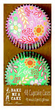 Cupcake Cases Floral Pink & Turquoise