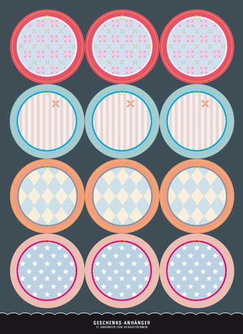 Gift Tags Pastel