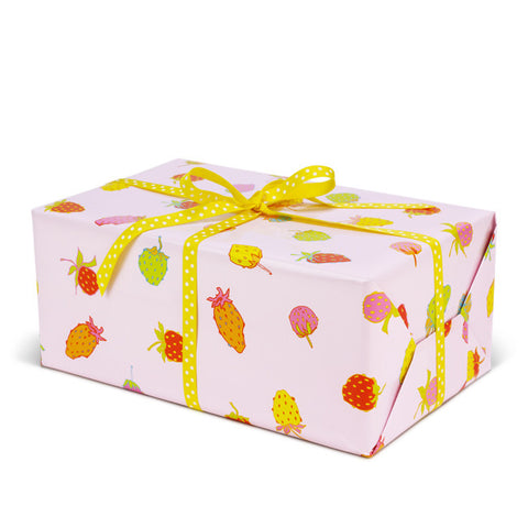 Strawberry gift wrapping paper