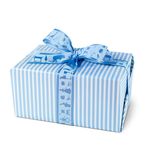 Stripes Blue gift wrapping paper