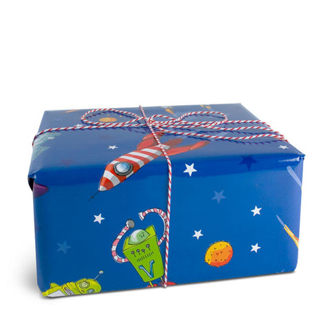 Rocket gift wrapping paper