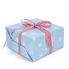 Snow Blue gift wrapping paper