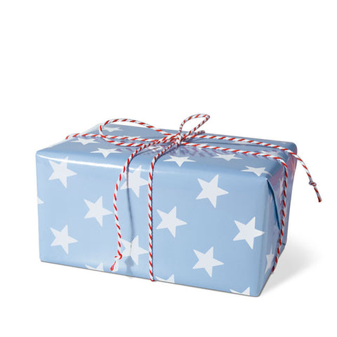 Stars Blue gift wrapping paper
