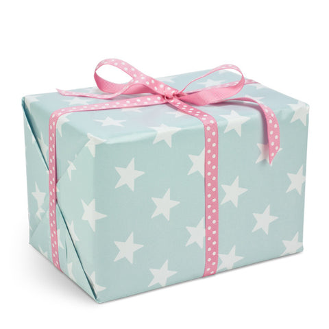 Stars Turquoise gift wrapping paper