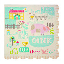 Happy Little Farm Napkins