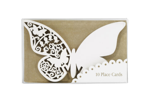 Place Cards Butterfly Ivory