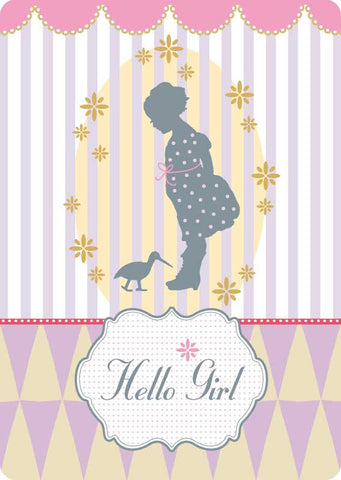 "Postcard ""Hello Girl"""