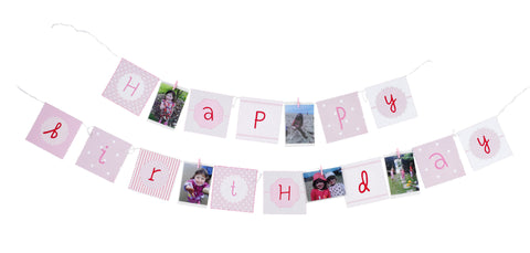 Pink Party Birthday Banner