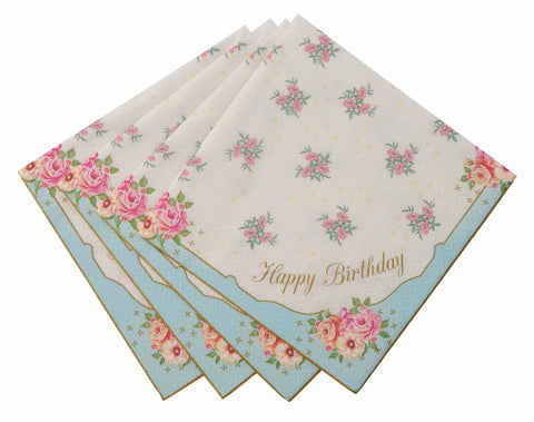 Love in the afternoon Happy Birthday Napkins