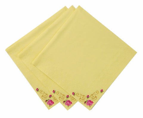Love in the afternoon Cocktail Napkins Yellow