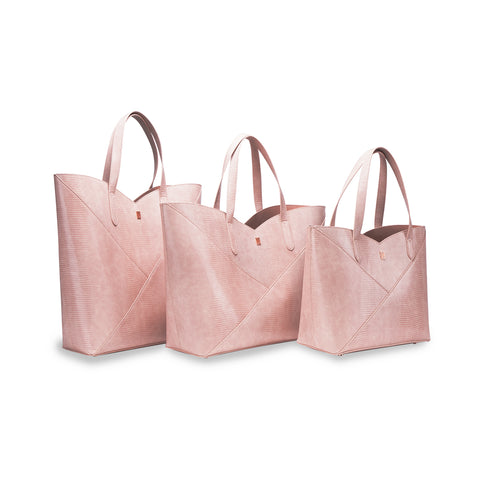 Dusty Rose Lizard Stucture Tote
