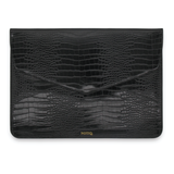 Black Patent Croco Vegan Tech Clutch - NOTIQ