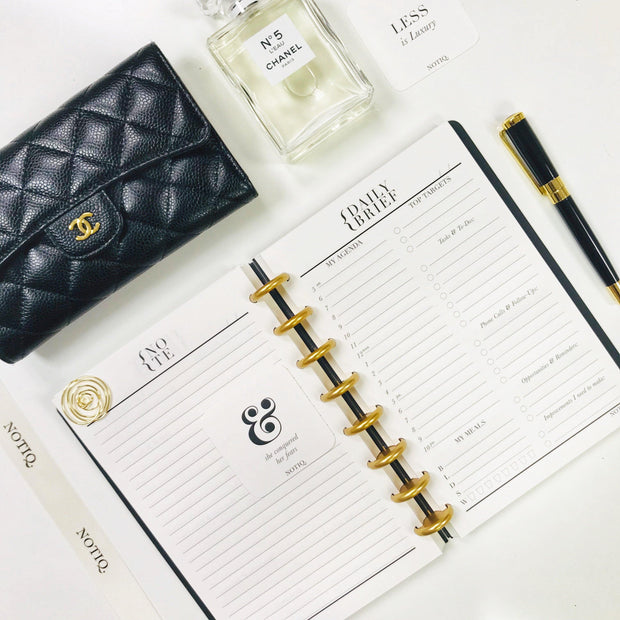 Black Croco Luxe Planbook - NOTIQ