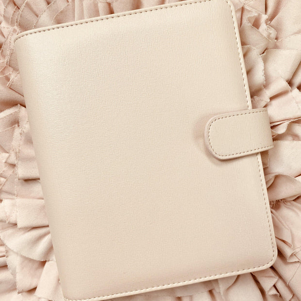Classic Q5 Blush Saffiano Vegan Leather Agenda Cover - A5 Size