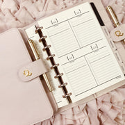 Ella Rose - Half Letter Blush Saffiano Notebook Planner Cover