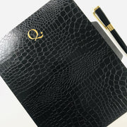 Set of 3 File Folders Black Croco Luxe - NOTIQ