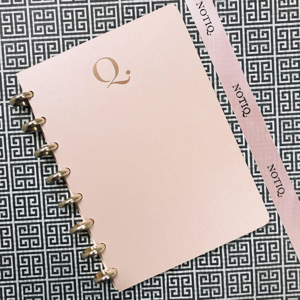 Rose Blush Shimmer Notebook - NOTIQ