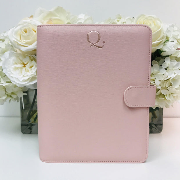 Pre-Order: Q5 Blush Saffiano Vegan Leather Agenda Cover A5 Size - NOTIQ