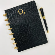 Black Croco Luxe Notebook - NOTIQ