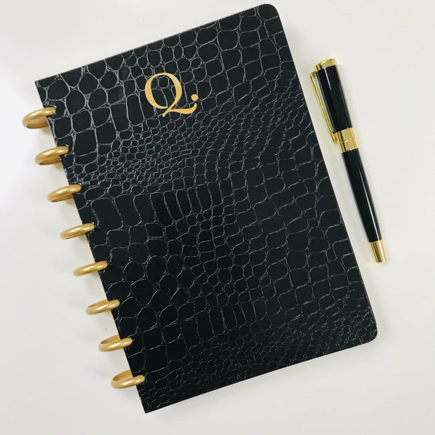 Black Croco Luxe Planbook