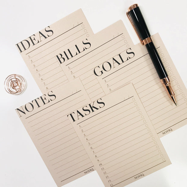 Functional Index Cards - Notes Set + Paper Clip