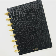Black Croco Luxe Notebook - Classic