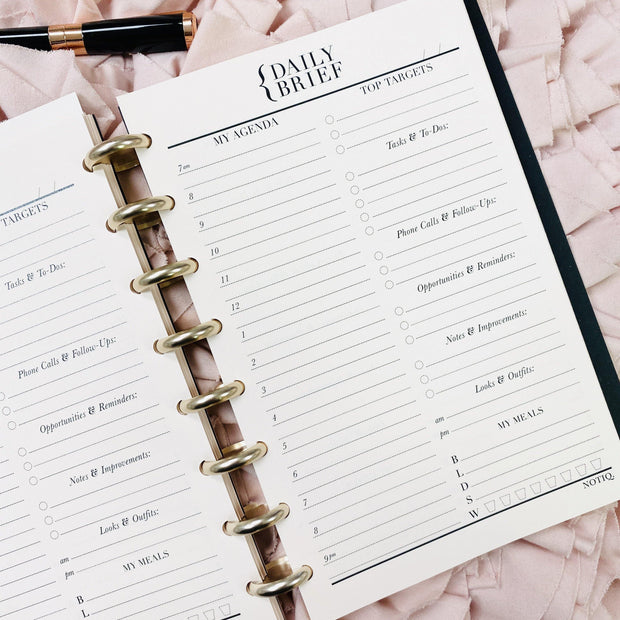 Daily Brief PRO Planner Inserts