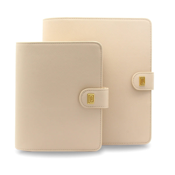 Bisque Vegan Saffiano RINGLESS Agenda Cover / Planner - NOTIQ