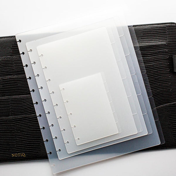 Blank Clearfrost Tab Dividers for Discbound - NOTIQ