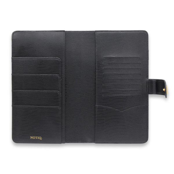 BLAQ Lizard SLIM Vegan RINGLESS Agenda Cover - NOTIQ