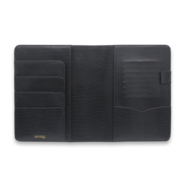 BLAQ Lizard Vegan Leather Agenda Folio / Planner - NOTIQ