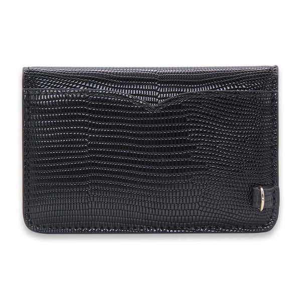 BLAQ Lizard Vegan Leather Card Key Case - NOTIQ