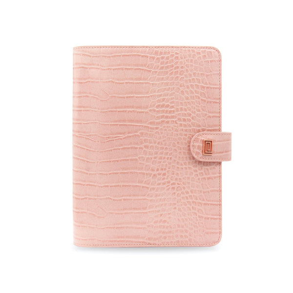 Blush Croco Luxe Vegan Agenda Cover RINGLESS / Planner - NOTIQ