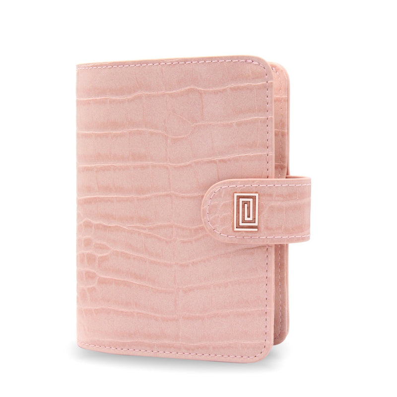 Blush Croco Luxe Vegan Pocket Agenda / Chain - NOTIQ