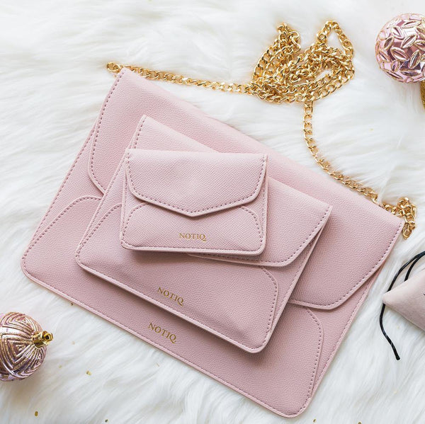 Blush Demure Trio Tablet Clutch Set - NOTIQ