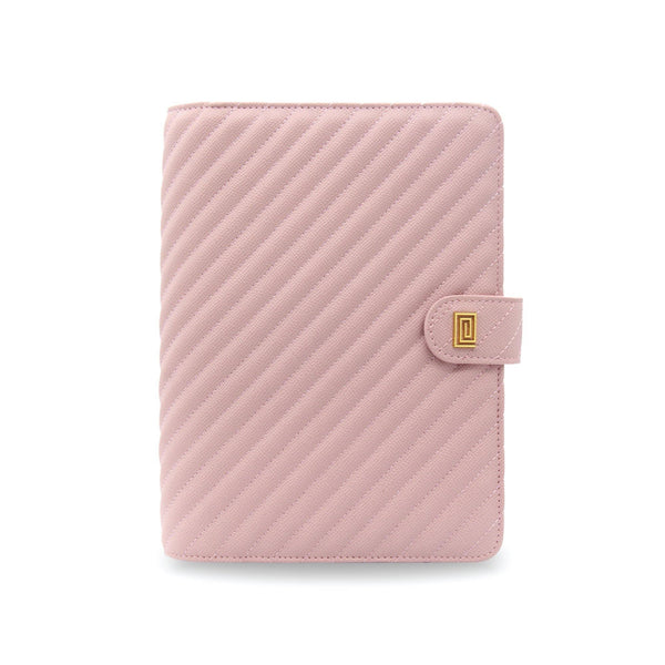 Blush Demure Vegan Matrice Quilted Agenda Cover RINGLESS / Planner - NOTIQ