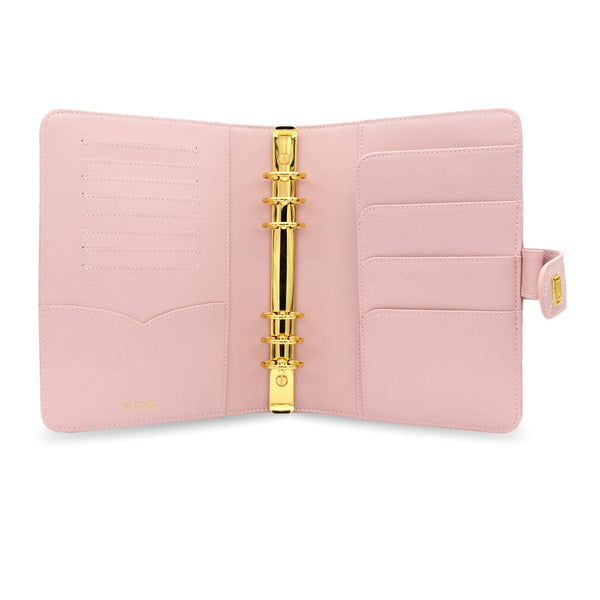 Blush Demure Vegan Matrice Quilted Agenda RING Cover / Planner - NOTIQ