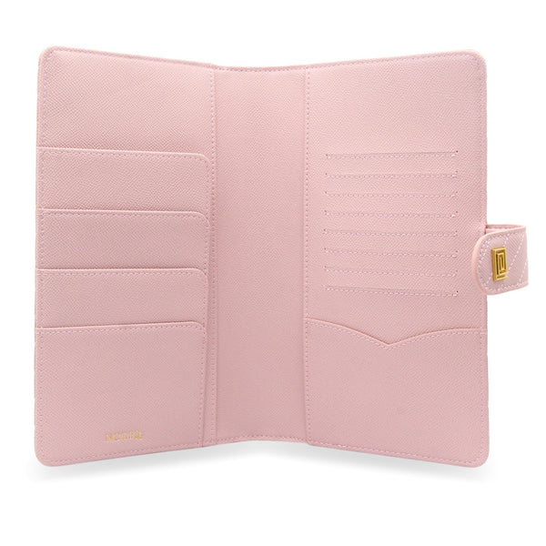 Blush Vegan Matrice Quilted SLIM Agenda Cover RINGLESS - NOTIQ