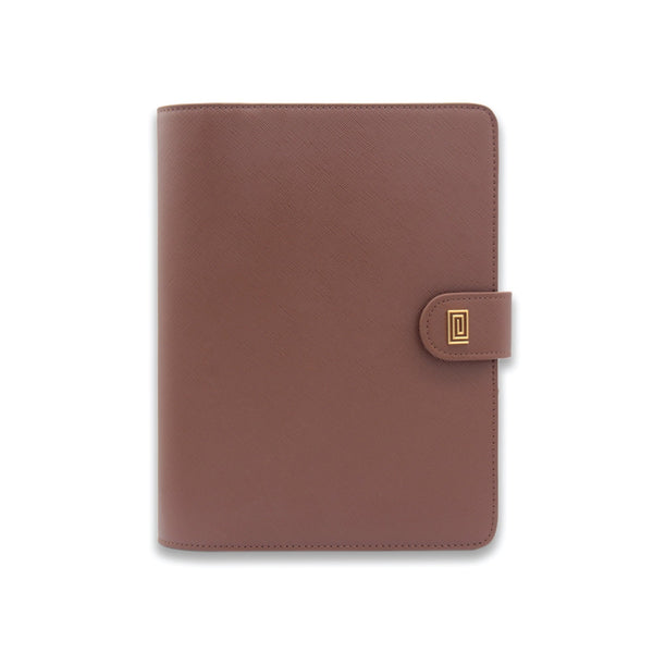 Caramel Brown Saffiano Vegan Saffiano RING Agenda - NOTIQ