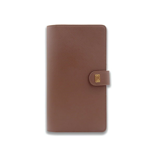 Caramel Saffiano SLIM Vegan Agenda Cover RINGLESS - NOTIQ