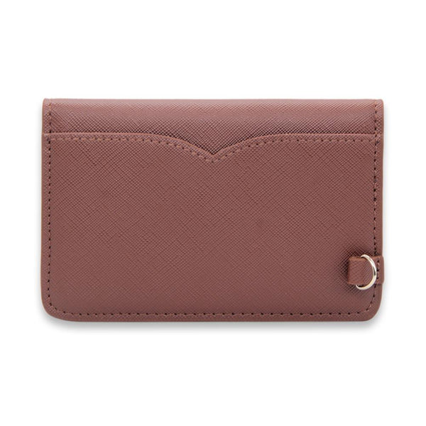 Caramel Saffiano Vegan Leather Card Key Case - NOTIQ