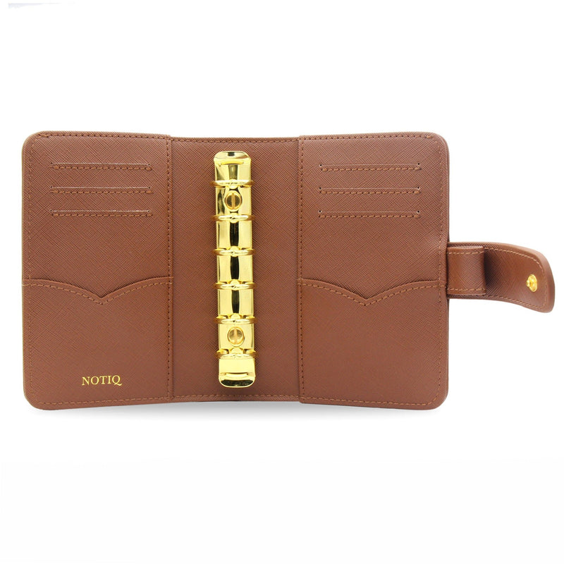 Caramel Vegan Saffiano Pocket Agenda / Chain - NOTIQ