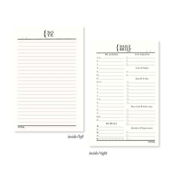 Daily Brief + Notes Planner Inserts & Refill - NOTIQ