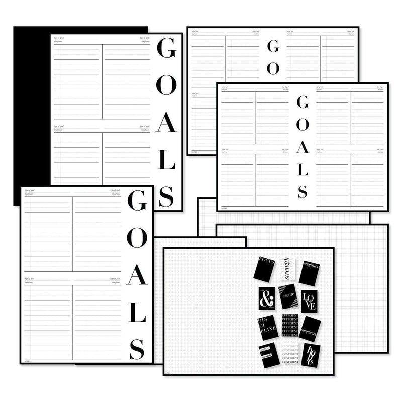 Goals & Vision Board Wall Poster Kit - NOTIQ
