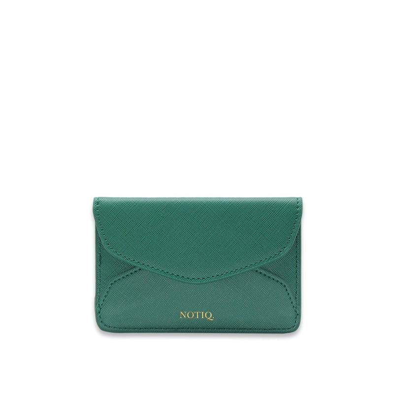Lush Saffiano Vegan Leather Card Key Case - NOTIQ