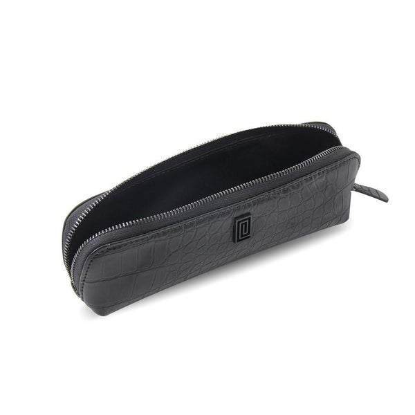 MASQ Black Croco Luxe Pen & Pencil Case - NOTIQ