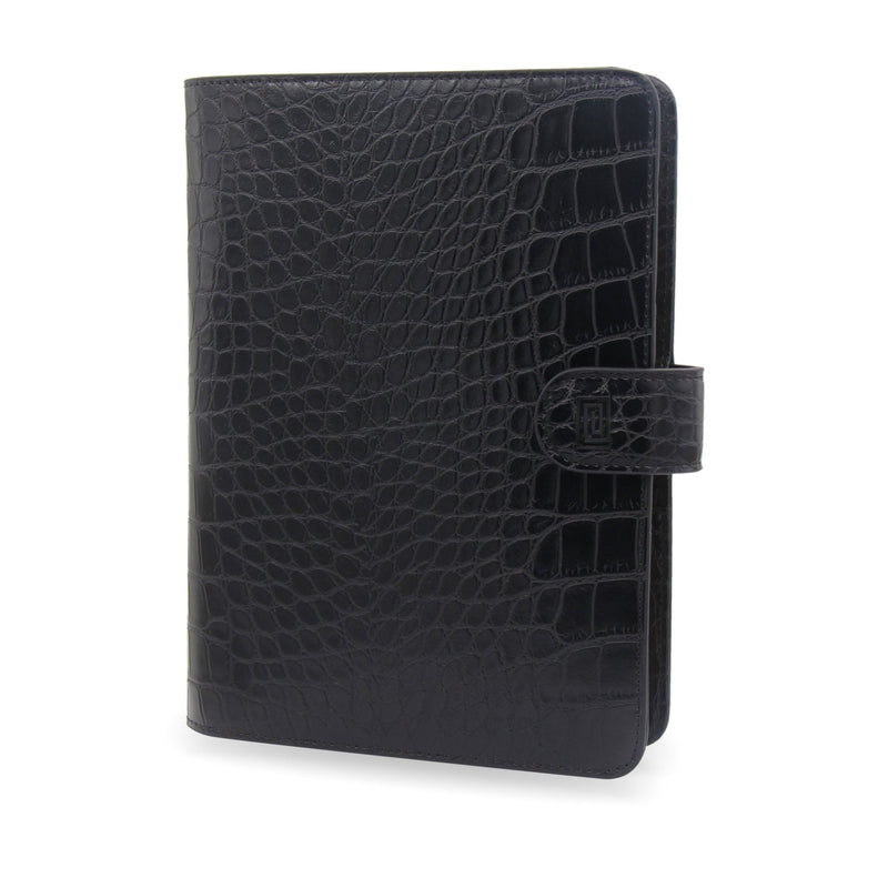 MASQ Black Croco Luxe Vegan Agenda Cover RINGLESS / Planner - NOTIQ