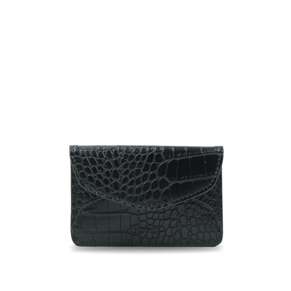 MASQ Black Croco Luxe Vegan Leather Card Key Case - NOTIQ