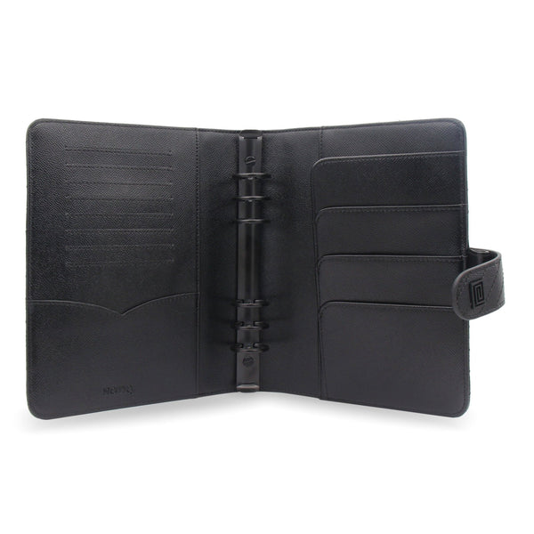 MASQ Noir Vegan Matrice Quilted Agenda RING Cover / Planner - NOTIQ