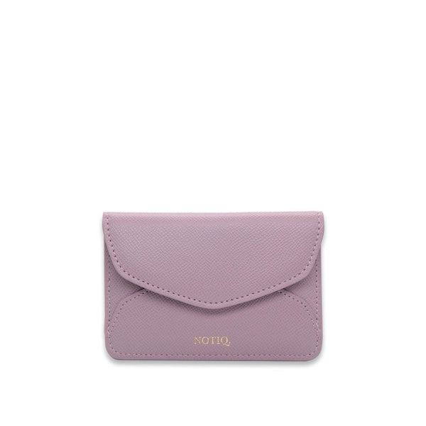Mauve Pebble Vegan Leather Card Key Case - NOTIQ